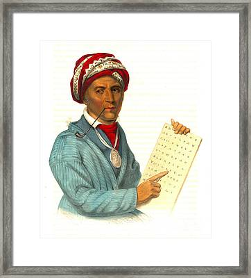 Framed Print featuring the photograph Sequoyah 1838 by Padre Art