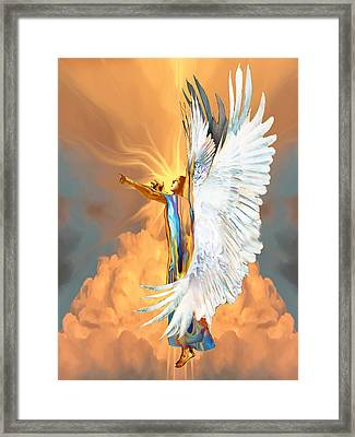 Seraph Cries Out Framed Print by Ron Cantrell