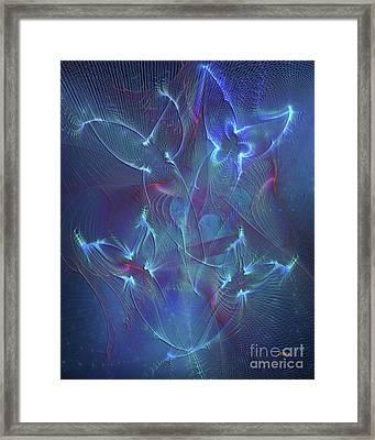 Seraphim Blue Framed Print