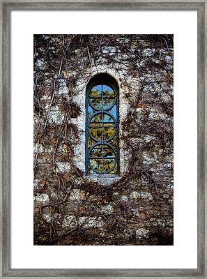 Serbian Church Window Framed Print by Stelios Kleanthous