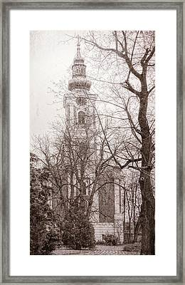 Serbian Orthodox Cathedral Framed Print by Joan Carroll