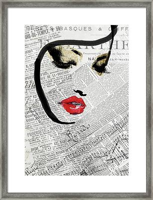 Serein Framed Print by Mindy Sommers