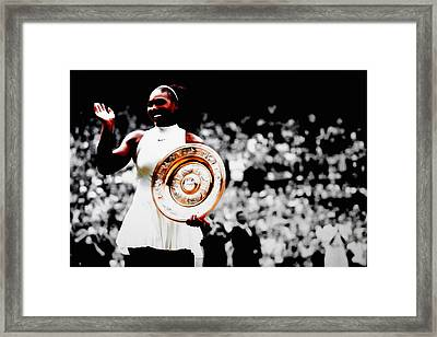 Serena 2016 Wimbledon Victory Framed Print by Brian Reaves