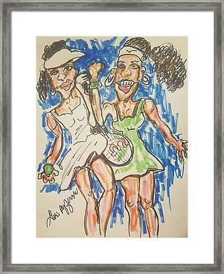 Serena And Venus Williams Framed Print