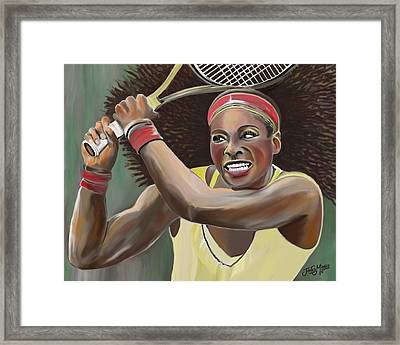 Serena Framed Print by James  Mingo