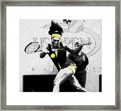 Serena Legacy Etched In Stone Framed Print