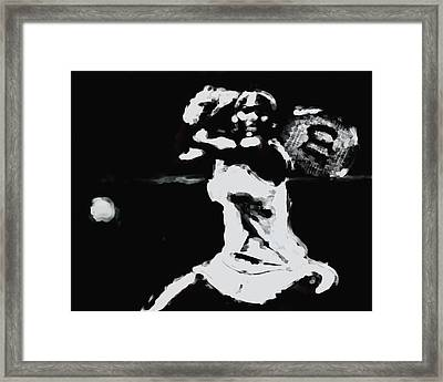 Serena Williams 021 Framed Print by Brian Reaves