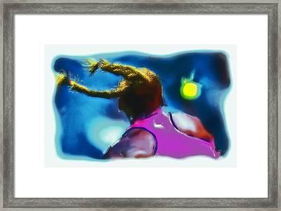 Serena Smash Framed Print by Brian Reaves