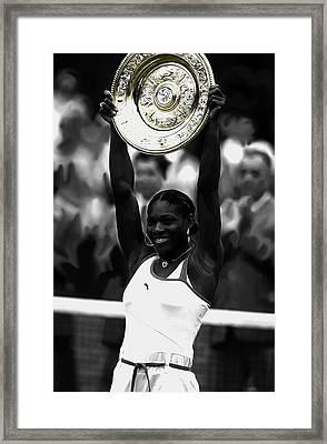 Serena Williams 2003 Victory Framed Print