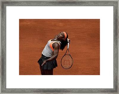 Serena Williams 3 Framed Print by Dani Pozo