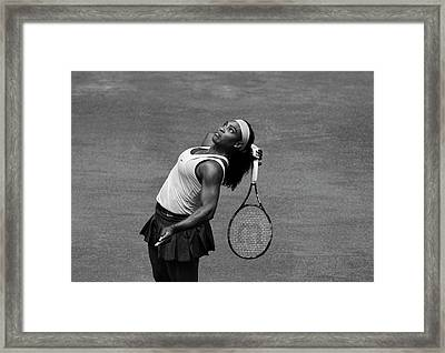 Serena Williams 4 Framed Print by Dani Pozo