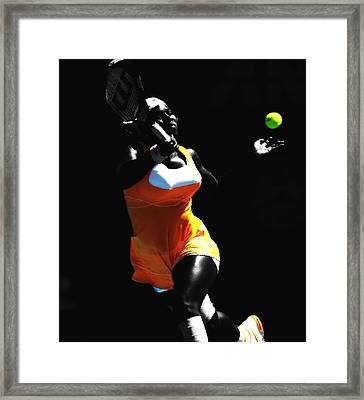 Serena Williams 6b Framed Print