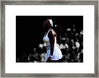 Serena Williams 6c Framed Print