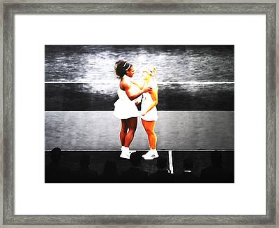 Serena Williams And Angelique Kerber 3a Framed Print by Brian Reaves