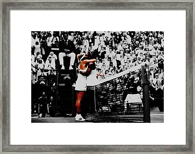 Serena Williams And Angelique Kerber Framed Print by Brian Reaves