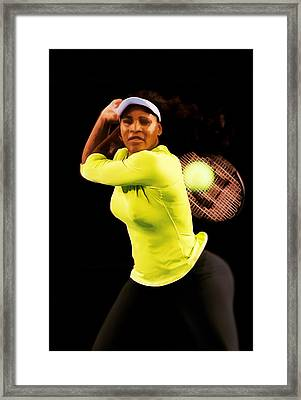 Serena Williams Bamm Framed Print by Brian Reaves