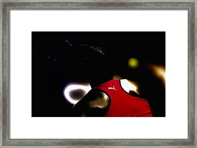 Serena Williams Doing It Framed Print by Brian Reaves