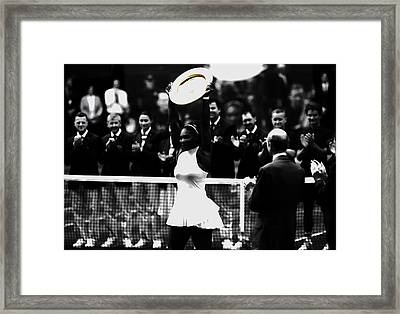 Serena Williams Eye On The Prize Framed Print