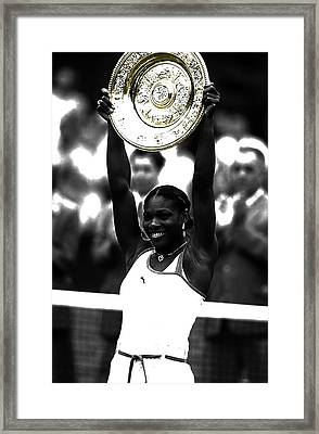 Serena Williams Got Another Title Framed Print