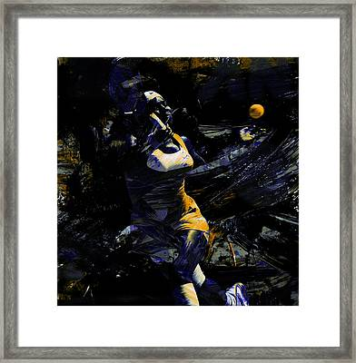 Serena Williams Keep Grinding Framed Print