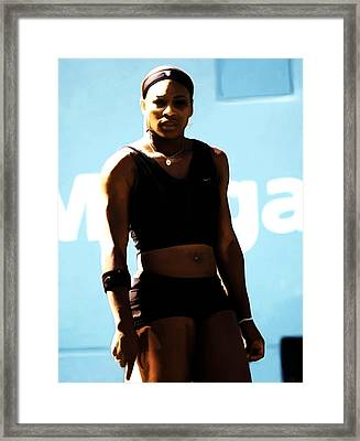 Serena Williams Match Point IIi Framed Print by Brian Reaves