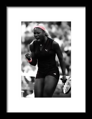 Venus Williams Framed Prints