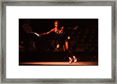 Serena Williams Passion Framed Print by Brian Reaves
