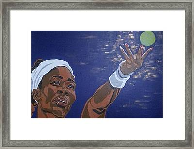 Framed Print featuring the painting Serena Williams by Rachel Natalie Rawlins
