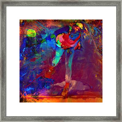 Serena Williams Return Explosion Framed Print