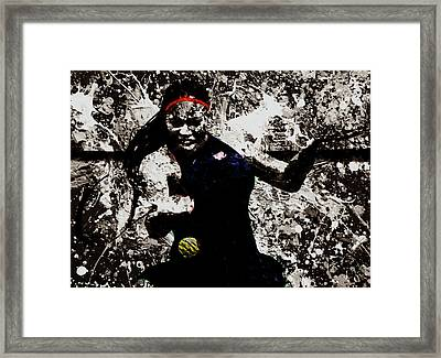 Serena Williams S4e Framed Print by Brian Reaves