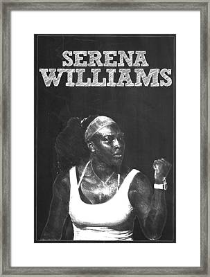 Serena Williams Framed Print by Semih Yurdabak