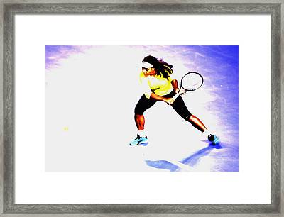 Serena Williams Soft Touch Framed Print