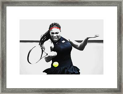 Serena Williams Stay Focused Framed Print
