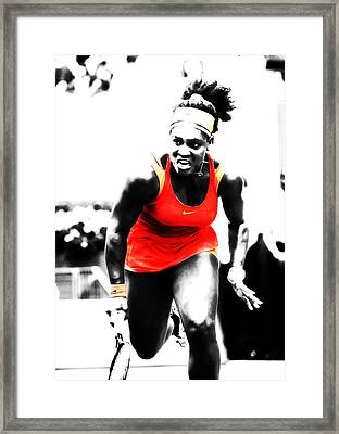 Serena Williams Go Get It Framed Print