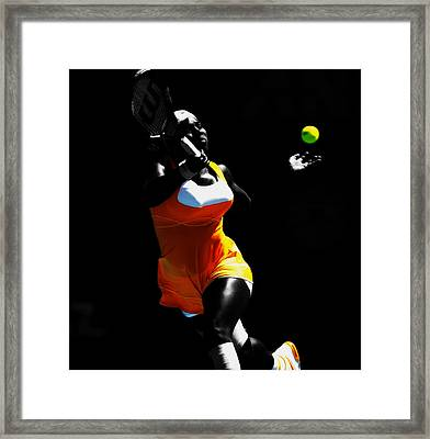 Serena Williams Stay On It Framed Print