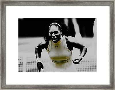Serena Williams Still I Rise 1a Framed Print