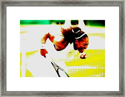 Serena Williams Still I Rise Framed Print by Brian Reaves