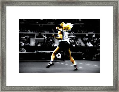 Serena Williams Taking Over Framed Print by Brian Reaves