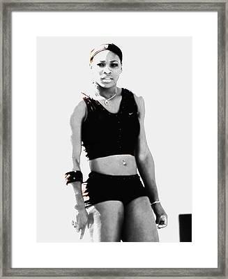 Serena Williams Who Next Framed Print