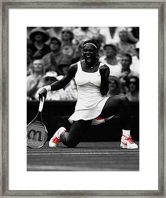 Serena Williams Wimbledon 2010 Framed Print