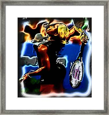 Serena Williams Thermal Catsuit Framed Print by Brian Reaves