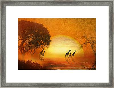 Serenade Of The Serengeti Framed Print