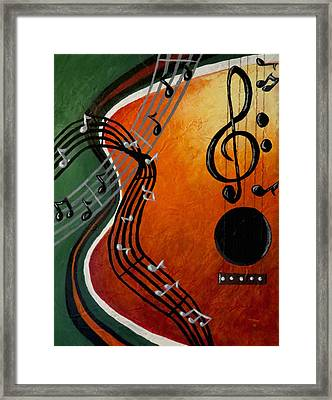 Framed Print featuring the painting Serenade by Teresa Wing