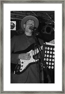 Serenading Guitar Man Framed Print