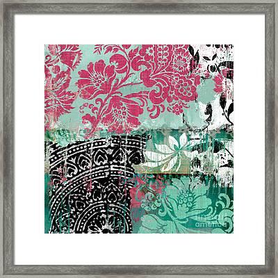 Serendipity Damask Batik II Framed Print