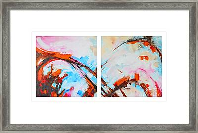 Serendipity No.1 And 2 Modern Abstract Art - Diptych Framed Print by Patricia Awapara
