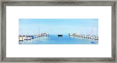 Serene Atlantic Highlands Marina Framed Print by Leonardo Ruggieri