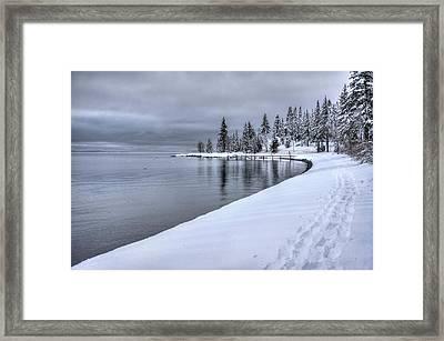 Serene Beauty Of Lake Tahoe Winter Framed Print