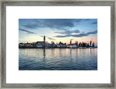 Framed Print featuring the photograph Serene Blue Hour by Quality HDR Photography