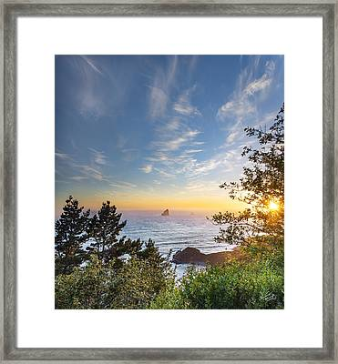 Serene Coast Framed Print by Leland D Howard